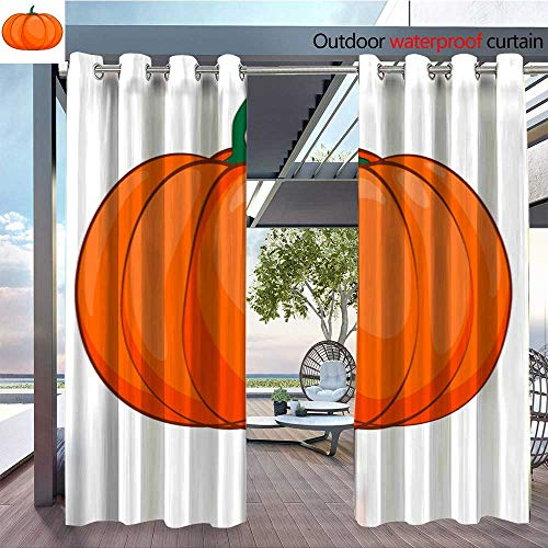 Outdoor Privacy Curtain for Pergola Halloween-isolated-pumpkin-in-vector--Autumn-dall-thanksgiving-food-for-vegetarian--Natural-seasonal-plant-from-farm-or-garden-4.jpg Thermal Insulated Water -