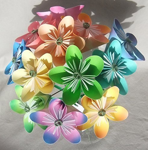 Pastel Origami Flower Bouquet