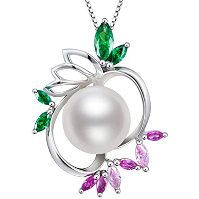 Gifts For Women Pearl Pendant Necklace Freshwater Cultured White Eternal Summer Day