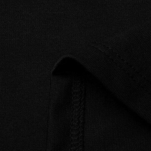 Femme longues Femme V Fit Fille Noir Col Blouses Zipper shirt Manches Chemisier Haut Printemps Tee Uni Original Loose Slim Longra Femme saison Femme Mi shirt Femme Chic T Femme Top Basique qROwXv8