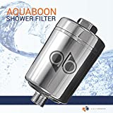 Aquaboon Universal Shower Filter with Replaceable Multi-Stage Filter Cartridge (Chrome)
