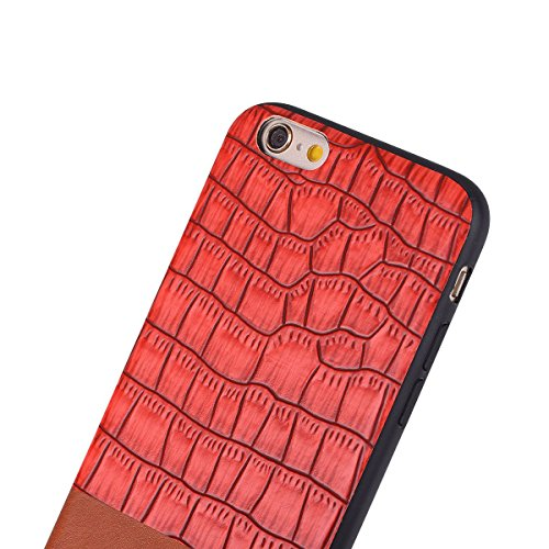 "HYAIT® For IPHONE 6 PLUS 5.5"" Case[Crocodile][Shockproof] Dual Layer Hybrid Armor Rugged Plastic Hard Shell Flexible TPU Bumper Protective Cover-BAN04"