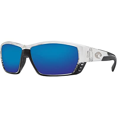 f0571f39e6 Image Unavailable. Image not available for. Color  Costa Del Mar Tuna Alley  Sunglasses - Crystal Frame - Blue Mirror 580G lens