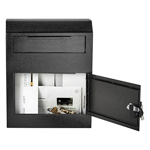 AdirOffice Heavy Duty Secured Safe Drop Box (Black) by AdirOffice (Image #2)