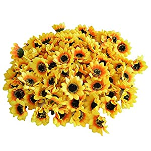 KINWELL Artificial Silk Sunflower Floral Decor 1