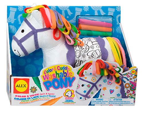 Alex Craft Color and Cuddle Washable Pony Kids Art and Craft Activity from ALEX Toys