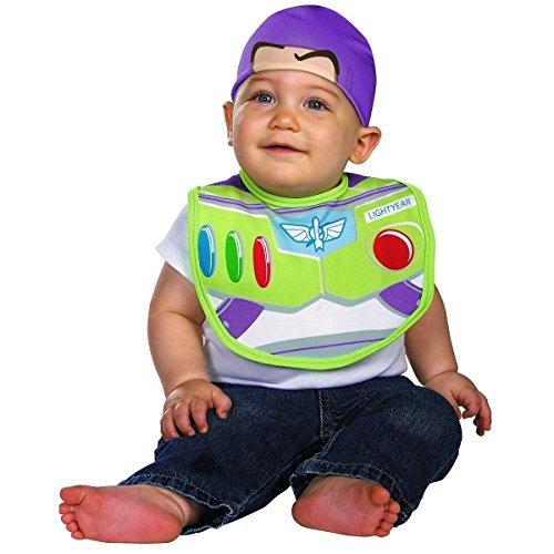 Buzz Lightyear Costume Female (GSG Buzz Lightyear Bib & Hat Costume Baby Toy Halloween Fancy Dress)