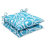 Pillow Perfect Outdoor Best Wrought Iron Seat Cushion, Turquoise, Set of 2 Review