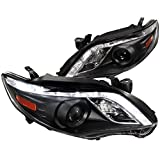 Spec-D Tuning 2LHP-COR11JM-TM Corolla R8 Style Led Drl Black Projector Headlights
