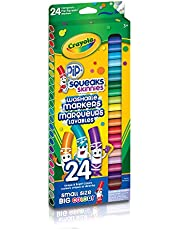 Crayola 58-4324 24 Pip-Squeaks Skinnies Fine Line Washable Markers, School and Craft Supplies, Gift for Boys and Girls, Kids, Ages 3,4, 5, 6 and Up, Holiday Toys, Stocking , Arts and Crafts, Gifting