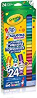 Crayola 58-4324 24 Pip-Squeaks Skinnies Fine Line Washable Markers, School and Craft Supplies, Gift for Boys and Girls,...