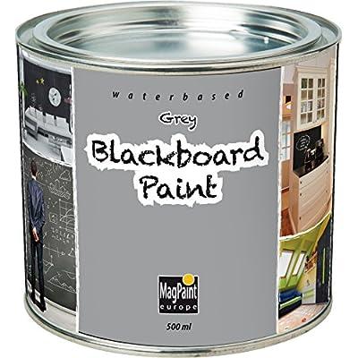 MagPaint - Pintura de pizarra (0,5 L), color gris: Oficina y papelería
