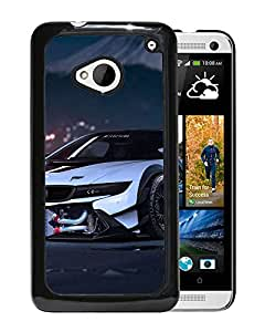Beautiful Designed Cover Case With Bmw I Tuning Sport Car Front View For HTC ONE M7 Phone Case
