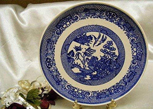 1041 Antique Scio Pottery Blue Willow Luncheon Plate Willow Luncheon Plate