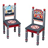 Fantasy Fields Little Fire Fighters Kids Wooden Hand Painted Set of 2 Chairs