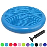Extra Thick 34cm Balance Cushion, Balance Board, Air Stability Wobble Board, Wobble Cushion, Posture Trainer with Free Pump, TRIDEER Anti-Burst Fitness Stability Pad in Anti-Slip Surface - Great for Improving Core Strength & Relieving Back Pain - Available in multicolo