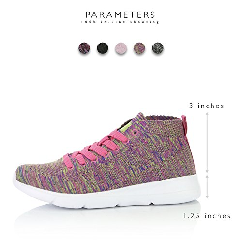 Walking Slip Sneakers on high Top Memory Rainbow DailyShoes Foam Mesh Women's Shoes qI1Fww