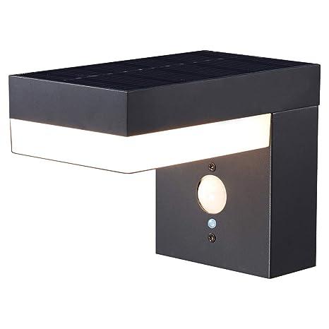 Proventa Design Solar Led Leuchte Mit Bewegungsmelder Aussenleuchte Mit Bewegungsmelder Aussenlampen Wandleuchte Pfostenleuchte