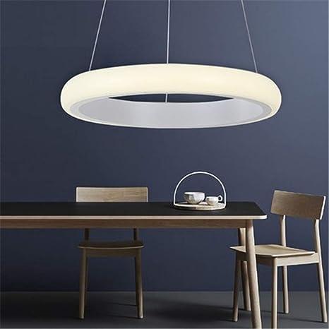 Amazon.com: Lámpara de mesa de comedor con anillos para ...