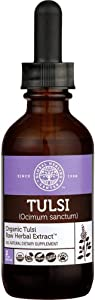 Global Healing Organic Tulsi Vegan Liquid Supplement Drops - Raw Herbal Extract Holy Basil Leaf - Bioavailable Ayurvedic Herb for Normal Stress Response, Natural Energy & Immune Support - 2 Fl oz