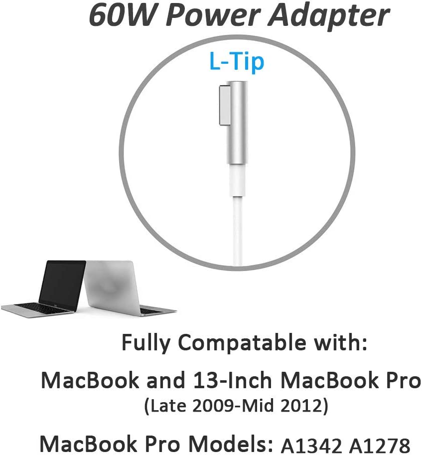 Amazon.com: Mac Book Pro Charger, Mac-Book Air Charger, 60W ...