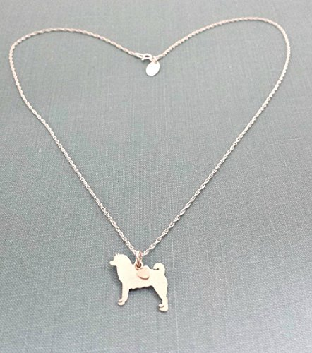Dog Charm Akita - Akita Sterling Dog charm Necklace Pet memorial silhouette Personalize Monogram jewelry