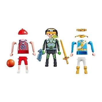 Playmobil 9828 Figuras Niño 3 en 1 - Príncipe, Jugador de ...
