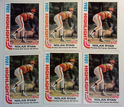 Topps 1982 Nolan Ryan Astros Pitcher Baseball Cards # 5 Lot of - Gum Chewing Cards Topps