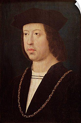 Canvas on Demand Wall Peel Wall Art Print Entitled Portrait Ferdinand II (1452-1516) King Spain 20''x30'' by Canvas on Demand