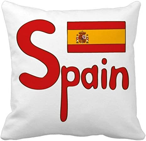 España Bandera Nacional rojo Patrón Square Throw almohada Inserte cojín casa sofá decoración regalo: Amazon.es: Hogar