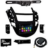 Otto Navi DVD GPS Navigation Multimedia Radio and Dash Kit for Chevrolet Trax 2015-2016 with Back up camera and extra
