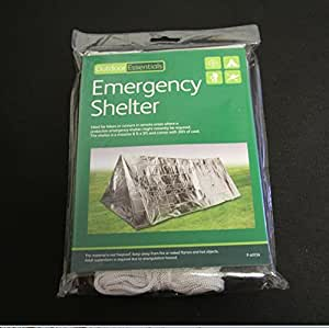 Sunny Brook Emergency Tent Emergency Shelter Survival Mylar Thermal Reflective Cold Weather Shelter Tube (1PCs)