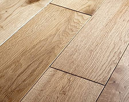 Solid Wood Flooring Natural Premium Oak Click System 1 M Pack