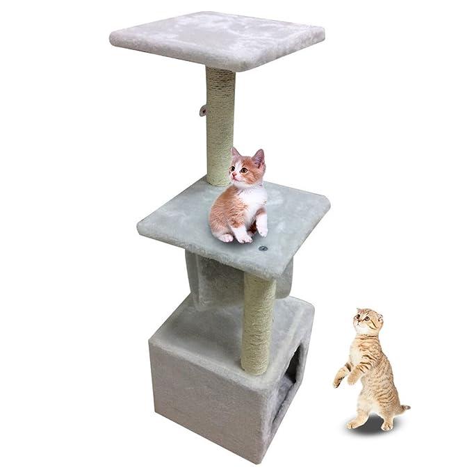 Blackpoolal 90 cm Rascador grandes Gatos Estable gato algodón Escalada Árbol para gatos gato Muebles alternativa a arañazos columna kratz tonelada gato ...