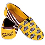2016 NBA Womens Basketball Ladies Canvas Slip-On Logo Summer Shoes - Pick Team (Cleveland Cavaliers, Large)