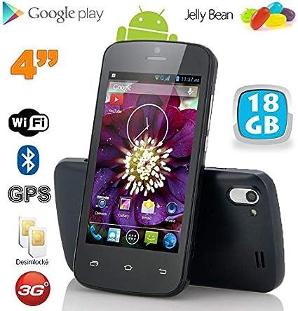 Smartphone Android 4 Pulgadas Libre WiFi Bluetooth Negro 18 GB: Amazon.es: Electrónica