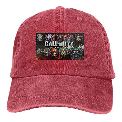 NICOTE Custom Printing Comfortable Strapback Cap All Prestige Emblems for Call of Duty 2 New Baseball Caps Red (Call Of Duty Modern Warfare 2 Prestige)