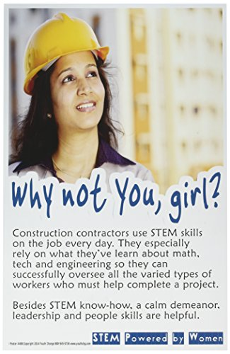 Poster #408 Inspiring Classroom Motivational STEM Poster for Girls, Part of Series