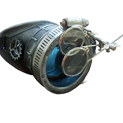 Blue Eyes Lens (Steampunk Victorian Goggles welding Glasses monocle silver blue lens RIGHT eye)