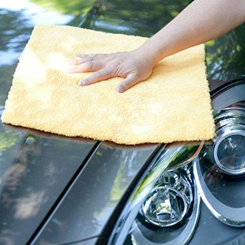CARCAREZ Microfiber Car Wash Drying Towels Professional Grade Premium Microfiber Towels for Car Wash Drying 16 in.x 16 in. Pack of 6 by CARCAREZ (Image #3)