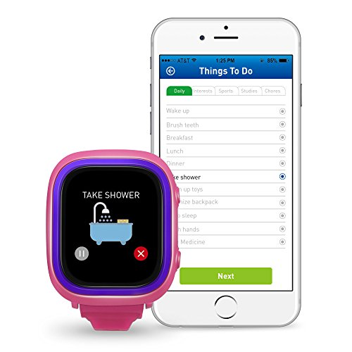 NEW TickTalk 2.0 Touch Screen Kids Smart Watch, GPS Phone watch, Anti Lost GPS tracker with New App, Better Positioning Chip, Things To Do Reminder, Phone/Messaging (SIM CARD INCLUDED) (Pink) by TickTalk (Image #3)