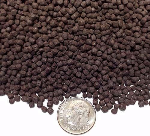 Aquatic Foods Inc. 3 mm California Blackworm Sinking Pellets Color Enhancers & Vitamins - 1/4-lb - 113g