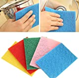 10X Magic Sponge Eraser Cleaning Towel Wash Cloth Kitchen Dish Foam Pads Cleaner Vibola (random Color)