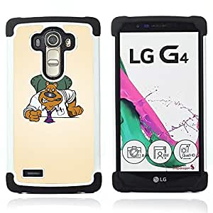 - Funny Angry Bear Boss - - Doble capa caja de la armadura Defender FOR LG G4 H815 H810 F500L RetroCandy