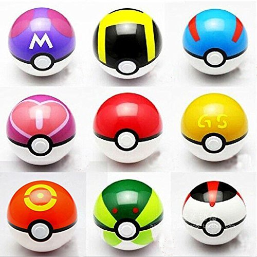 Snorlax Costume For Sale (9PCS Pokemon pikachu Pokeball Cosplay Pop-up Master Great Ultra GS poke BALL Toy)