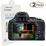 Exuun (2-Pack) Tempered Glass Screen Protector for Nikon D5500 D5300, Anti-Scratch Anti-Fingerprint 9H Hardness 0.3mm Ultra Thin Tempered Glass (For Nikon D5500 D5300)
