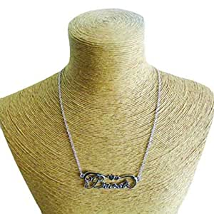 Schakespeare Women's Rhodium Beast Pendant Necklace