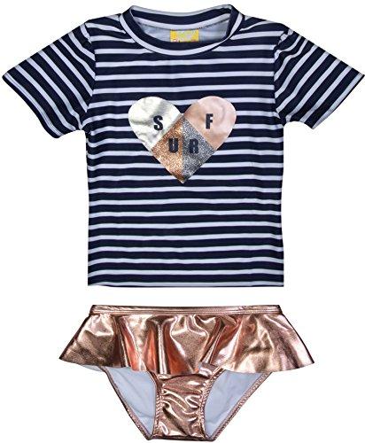 Blue And White Striped Bikini Set in Australia - 3