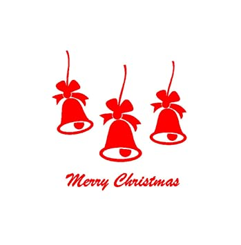 merry christmas stickers bcdshop christmas bell quote decal stickers party window door wall mural decor - Merry Christmas Stickers