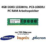 4Go DDR31333MHz PC3–10600u 1,5V 2Rx8240broches PC 3rd mémoire Memory, Chips de Samsung ou Micron ou Hynix (selon disponibilité)